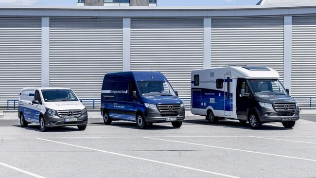 Първи тестове на Mercedes-Benz eSprinter и еVito