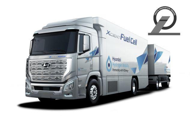 Решението с водородни камиони Hyundai печели Truck Innovation Award 2020